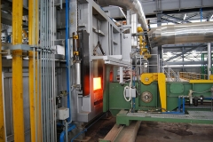 View of re-heat with ejector furnace furnace and