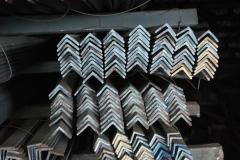 Stack of of angles in storage.