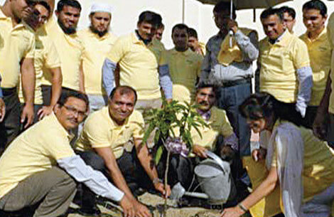 BSRM Group Planting a Mango Tree Sapling