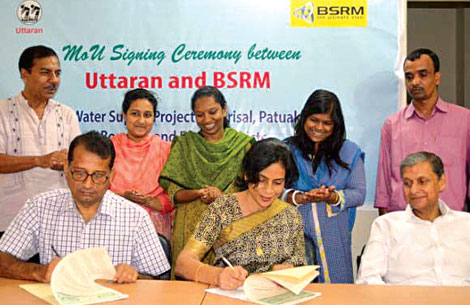 BSRM and NGO Uttaran Partnership